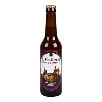 Bière artisanale ambrée myrte L'Eurélienne 5%vol. - 33cl