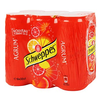 Soda Schweppes Agrumes Canette - 6x33cl