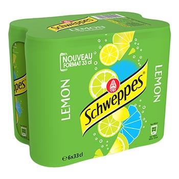 Soda Schweppes Lemon Canette - 6x33cl