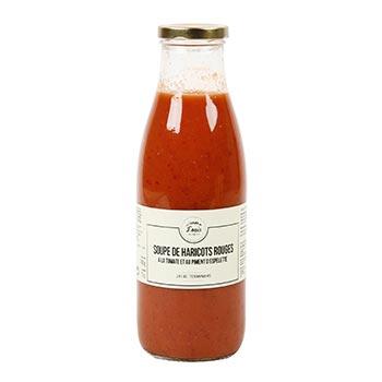 Soupe de Haricots rouges à la tomate et au piment d'Espelette