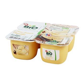 Crème dessert Bio village 4x95g - Vanille