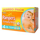 Couches Pampers Simply Dry