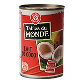 Lait de coco Tables du monde